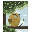 Owl in a branch vector image