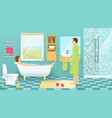 People At Bathroom Design vector image vector image