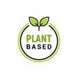 plant based vegan badge eco icon suitable