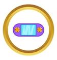Portable game console icon vector image vector image