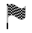 racing flag silhouette vector image vector image