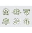 Retro Design Logotype Set DIY Handmade Craft Art vector image