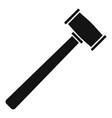 rubber hammer icon simple style vector image vector image