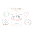 rustic wedding vintage element set for save the vector image vector image