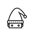 santa claus head icon vector image vector image