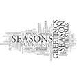 season word cloud concept vector image vector image
