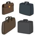 set briefcase vector image