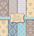 set of vintage seamless patterns vector image vector image