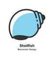 shellfish monocolor vector image