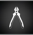 side cutters icon vector image vector image
