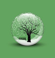 snow globe with winter vector image vector image