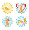 spa sauna icons vector image vector image