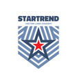 start trend - logo template creative vector image