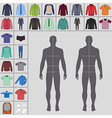 street fashion clothing 12 vector image vector image