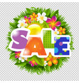 summer and spring sale banner vector image vector image