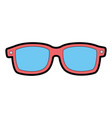sunglasses summer isolated icon vector image vector image