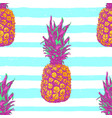 tropical seamless pattern with pineapple vector image