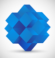 Blue cube on gray background vector image