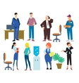 Office people isolated on white background vector image