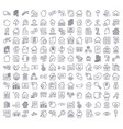 a large set of icons on the topic of real estate vector image vector image