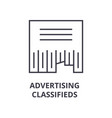 advertising classifieds line icon outline sign vector image