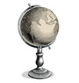 antique celestial globe hand drawing vintage vector image