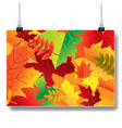 autumn banner isolated vector image vector image