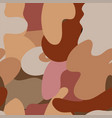 autumn camouflage trendy seamless pattern of vector image