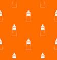 baby milk bottle pattern seamless vector image vector image