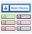Best Choice Button vector image vector image