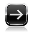 black square button with white arrow vector image