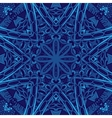 Blue Geometric abstract seamless pattern vector image