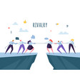 business competition rivalry concept flat people vector image vector image