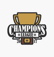 champion league sports logo vector image vector image