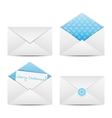 Christmas envelope vector image vector image