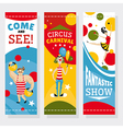 Circus banners vector image
