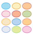 Colorful Set of Oval Frames for Desig vector image vector image