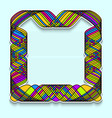 colorful square frame in the style of random vector image vector image