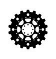 complex mechanism cogwheel vector image vector image