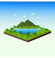 concept of isometric landscape with nature and eco vector image vector image