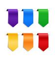 decorative ribbons labels or bookmarks set vector image
