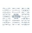 decorative swirls divider set vector image
