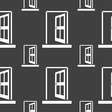 Door Enter or exit icon sign Seamless pattern on a vector image