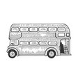 double decker bus sketch vector image
