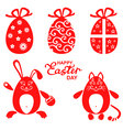 easter miniset red vector image
