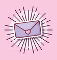 email love message cartoon style vector image