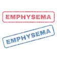 emphysema textile stamps vector image vector image