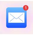 envelope app icon Eps10 vector image vector image