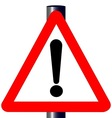 Exclamation Traffic Sign vector image vector image