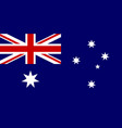 flag of australia national symbol of the vector image